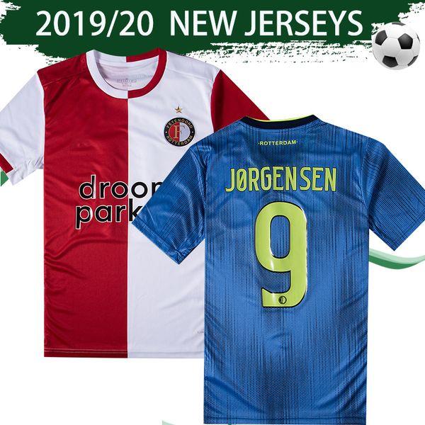 2019 2020 Feyenoord Home Soccer Jersey #32 V.PERSIE #9 JORGENSEN Football Shirt 1920 Rotterdam Away #10 BERGHUIS Maillot De Foot Uniforms Sales From