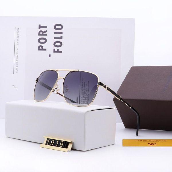 2019 high quality polarized lens pilot restoring ancient ways men and women fashion designer sunglasses brand sunglasses 1919