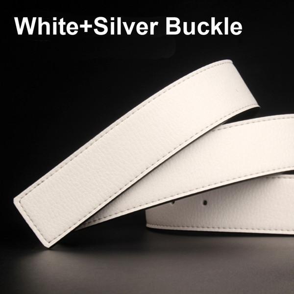 أبيض + الفضة مشبك