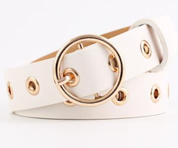 2019 personalized round buckle belt pu ladies fashion belt 03