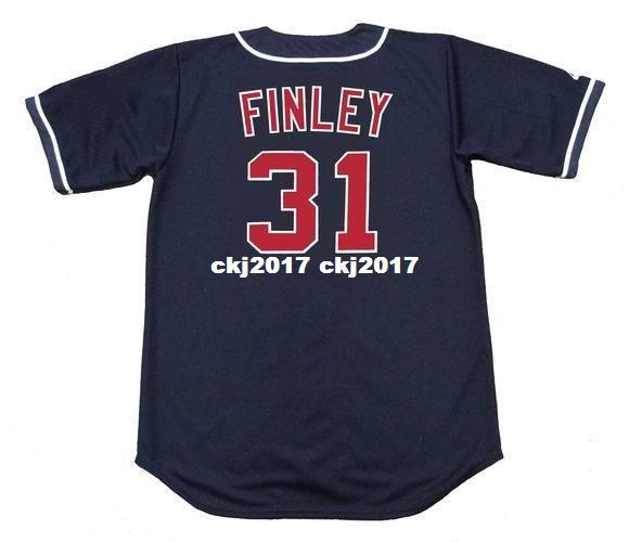 Cheap Custom CHUCK FINLEY California Stitched 1995 Majestic Vintage Baseball Jersey Retro Mens Jerseys Running