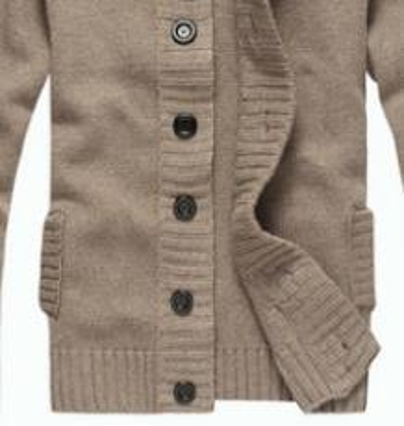 2018 automne et hiver nouveaux hommes pull à manches longues revers cardigan bouton pull en tricot manteau marée chaud
