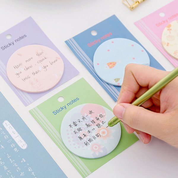 Lollipop Memo Pad Cute Flowers Paper Sticky Notes Kawaii Label Stickers Writing Pads For Daily Planner School Supplies Kids Gift