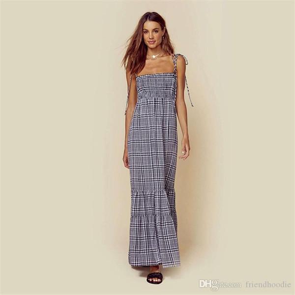 Seksi Spagetti Askı Yaz Bohemian Elbiseler Annelik Empire Flora Stil Plaj Elbise Tasarımcı Kolsuz ile Bow Elbise