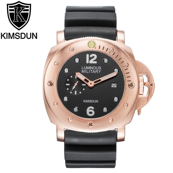 2019 Top KIMSDUN Fashion Rubber Strap Quartz Men Watches Casual Date Business Male Wristwatches Clock Montre Homme