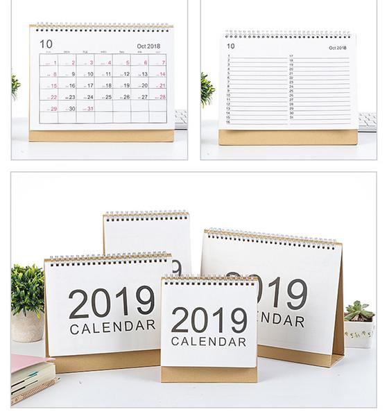 best selling 2019 Desktop Creative Office White Stand Simple 16.5*15.1cm Calendar Writable Weekly Planner Monthly List Plan Daily Calendar