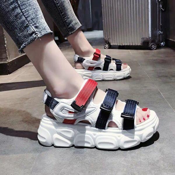Hot New Womens Sandals Casual Shoes Woman Sport Sandals Wedge Platform Shoes High Heels Sandal Women Canvas Beach Shoes Femme