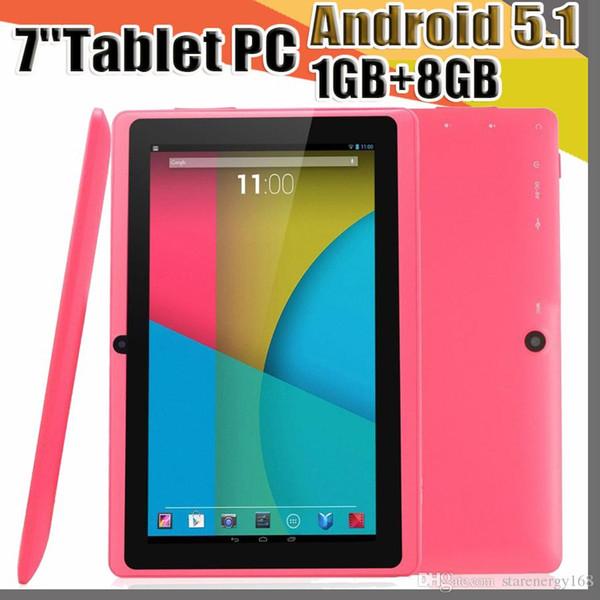 top popular 7 inch Q88 Tablets Quad Core AllWinner A33 1.2GHz Android 5.1 1GB RAM 8GB ROM Bluetooth WiFi OTG Tablet PC A-7PB 2019