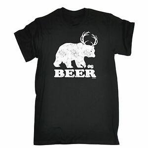 Bira Ayı T-SHIRT Grizzly Hen İçecek Parti Stag BuPrints Damat Hediye Doğum Günü Yapmak