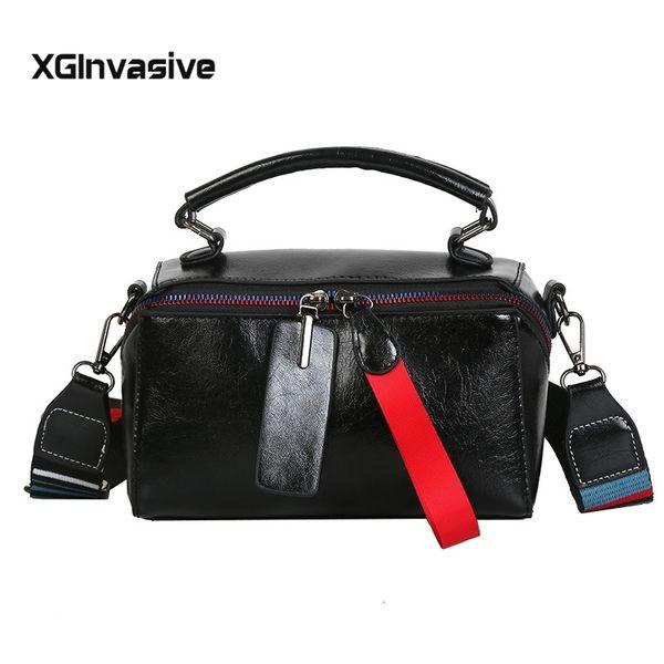 Bolsa Mujer Bags For Women 2019 Fashion Handbags Double Zipper Women Messenger Bags Colorful Wide Strap Patchwor Tote Bags SH190918
