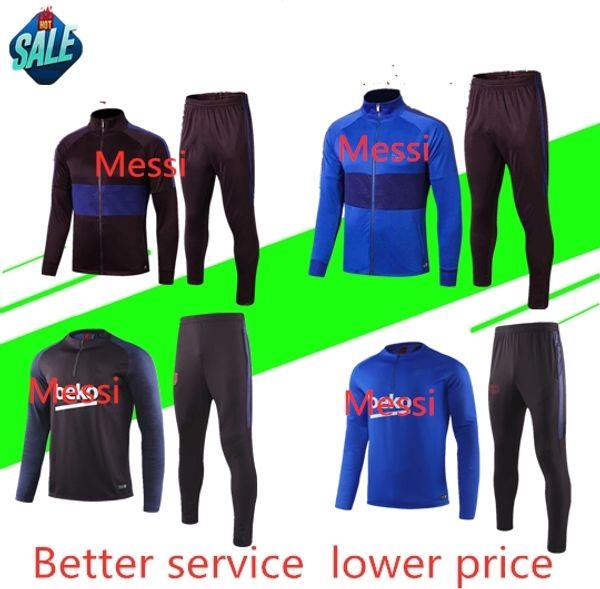 2019-2020 çocuklar soccers coat INIESTA PIQUE Üniforma Futbol Takımları Futbol Camiseta de Futbol O.DEMBELE SUAREZ çocuklar Eşofman