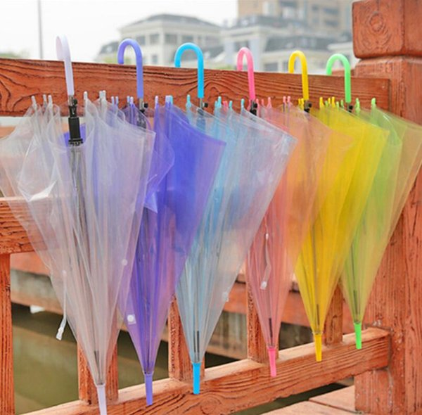 free shipping 120pcs/lot solid color gift umbrella, mixed colors supported clear PVC colorful umbrella LX6899