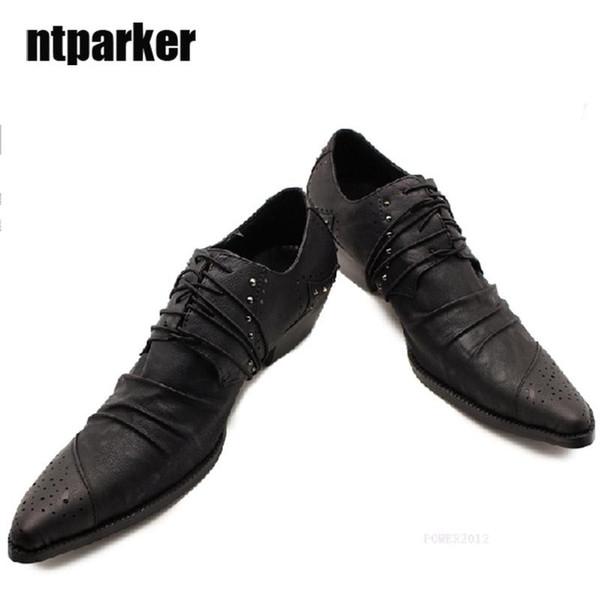 Купить Оптом Японский Стиль Мужские Кожаные Ботинки Мужской Моды Мужской Высокий Каблук Кожа Мужская Обувь Модная Обувь Zapatos Де Hombre Sepatu Pria,