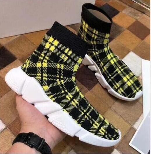 New Paris velocità formatori Knit calzino del pattino originale di lusso del progettista delle donne degli uomini delle scarpe da tennis poco costosa di alta qualità superiore dei pattini casuali s6