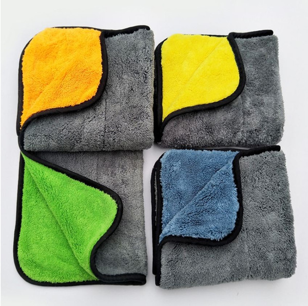 top popular New Size 30*30CM Car Wash Microfiber Towel Car Cleaning Drying Cloth Hemming Car Care Cloth Detailing CarsWash Towel For Toyota (Retail) 2019