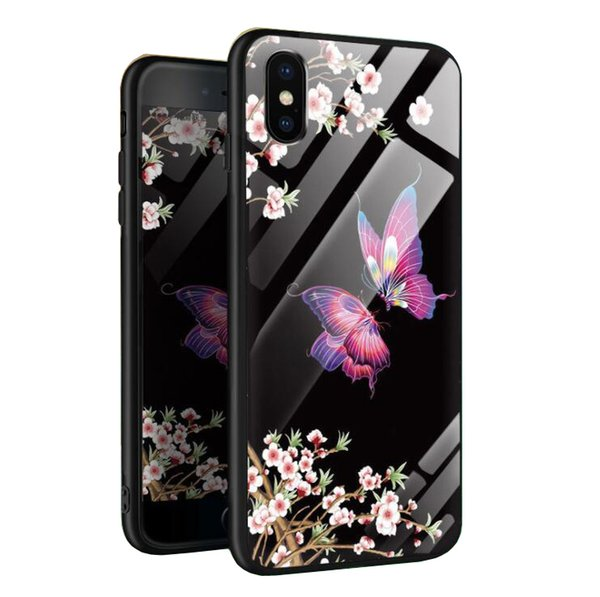 Butterfly Anti-fall Creative Butterfly Love Flower phone Case Cover FOR:iphone 5 5s 6 6s 7 8 X XS XR PLUS MAX