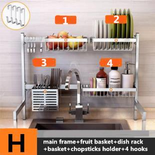 2019 Hot 63cm 304 Stainless Steel Kitchen Dish Rack Plate Cutlery Cup Dish  Drainer Sink Drying Rack Kitchen Organizer Storage Holder H Set VC2 From ...