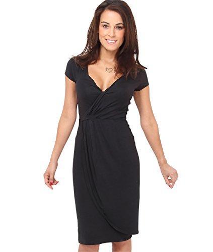 KRISP Womens Jersey Berretto a maniche corte con maniche corte e maniche lunghe aderenti Plus Size