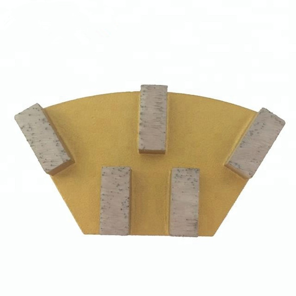 Cassani Diamond Grinding Shoes Diamond Grinding Block Grinding Plates for Stone Polishing and Concrete Floor 6 Pieces One Set