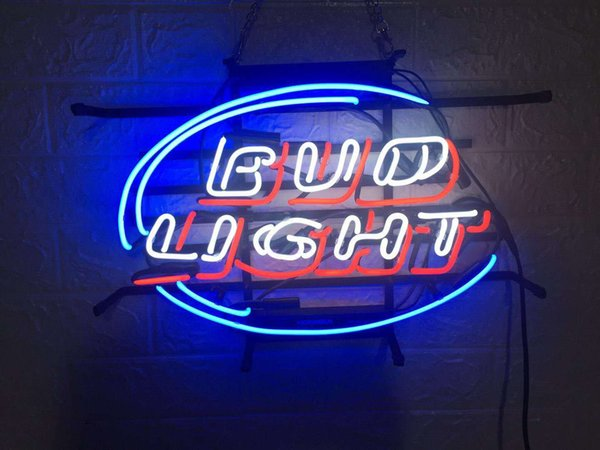 New Star Neon Sign Factory 17X14 pollici Real Glass Glass Sign Light per Beer Bar Pub Garage Room GAME ROOM BUD LIGHT TN927.