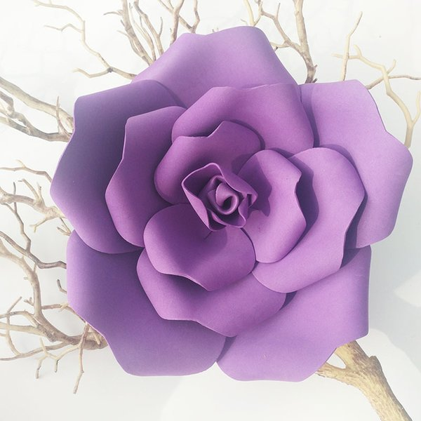 PE Foam Flat Bottom Giant Rose Artificial Flower Wall Wedding Backdrop Fake Flower Decoration Home DIY Party Holiday decoration flower heads