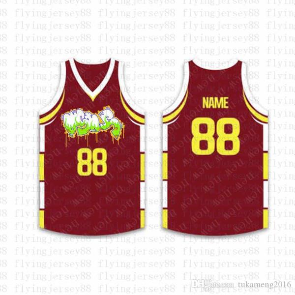 En Özel Basketbol Formalar Mens Nakış Logolar Jersey Ücretsiz Kargo Ucuz toptan Herhangi herhangi bir sayı Boyut S-XXL jo99 isim