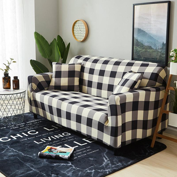 Modern Elastic Sofa Cover For Living Room Solid Color Sectional Corner Sofa  Slipcover Couch Cover Chair Protector 1/2/3/4 Seater Slipcovers Dining ...