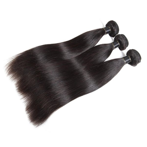 Fashion Natural Star Style Can Be Hot Dyed Long Black Straight Real Hair Silky Smooth And Smooth Brazilian Hair Extension Hair Curtain