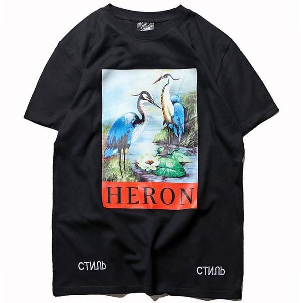 19SS mens designer t-shirt American street dance street summer hip-hop crane men women fashion casual tee womens printed sweatshirt M-XXL