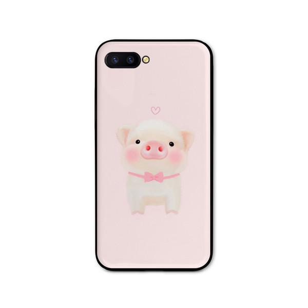 Simple Girl Wind Apple 7/8 más Cartoon Cute Piggy Cell Shell