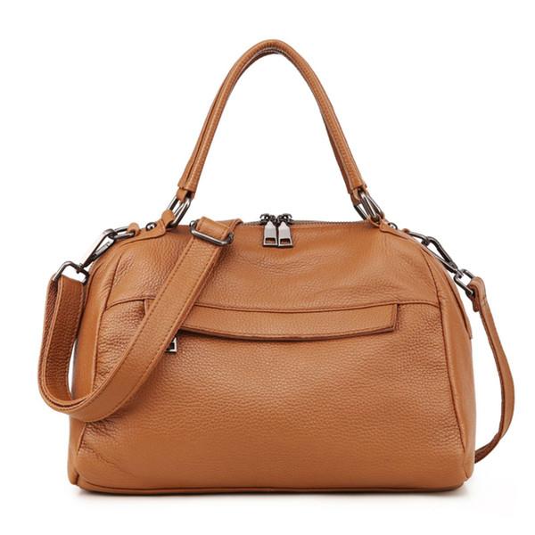 Echtem Femininas Damen Frauen Leder Handtasche Shuiyong Schwarz Schulter 2019 Tasche Großhandel Mode Bolsas Von Weibliche Aus N80Omnwv