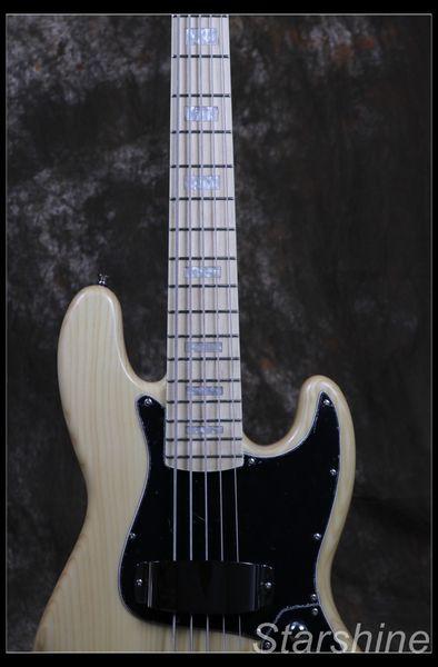 Бесплатная доставка Jazz Bass 5 Струнный Электрическая бас-гитара Z-ZV4 Основные цвета света ASH органа