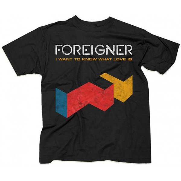 FOREIGNER T-Shirt I Want To Know What Love Is Vintage Distressed New S-2XL Custom Printed Tshirt, Hip Hop Funny Tee,
