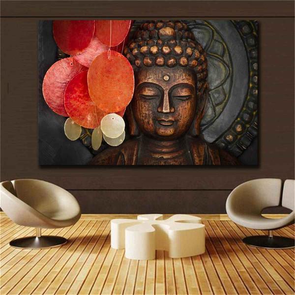 100% dipinto a mano hd stampa moderna astratta buddha arte pittura a olio su tela wall art home deco ufficio di alta qualità p177