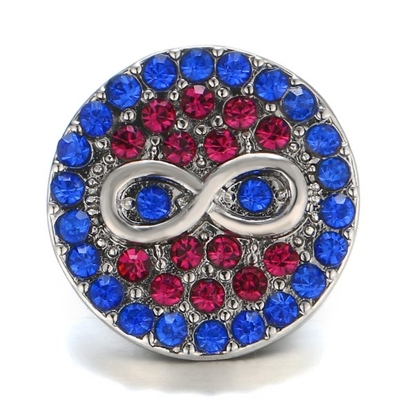 DIY Snap Button Noosa Chunks Bracelet Necklace Charms Fit DIY Noosa Button Bracelet Jewelry 18-20mm Snap Buttons Women Fashion gift M49Q