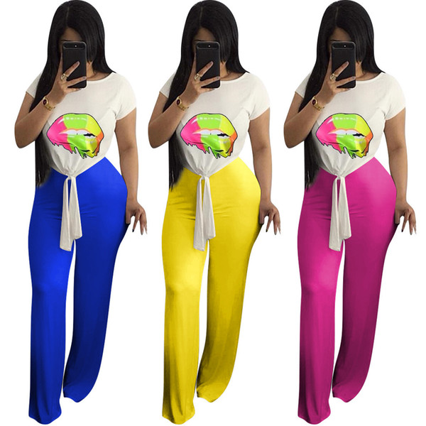 5f01b1b3dd4 Sell well Womens 2 piece set jogger suit short sleeve Pullover Crew Neck T- shirt