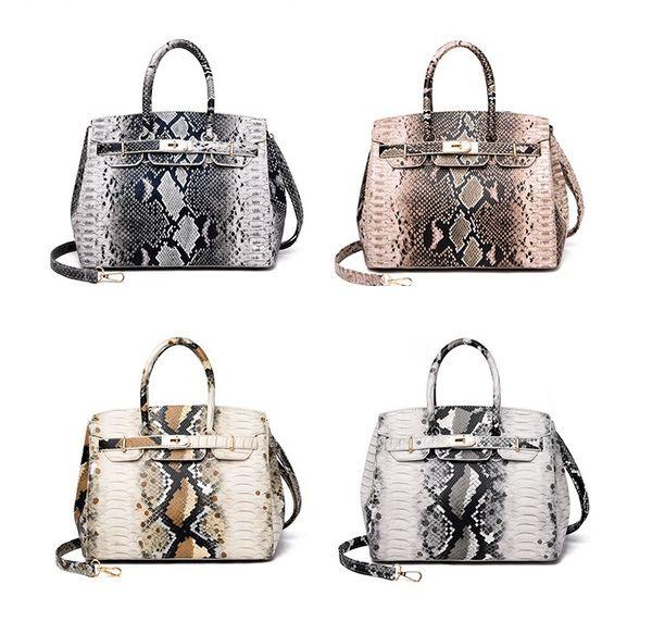 Dama de la moda bolso de hombro de estilo europeo y americano diseño patrón de serpiente bolso salvaje moda casual hombro paquete diagonal al por mayor