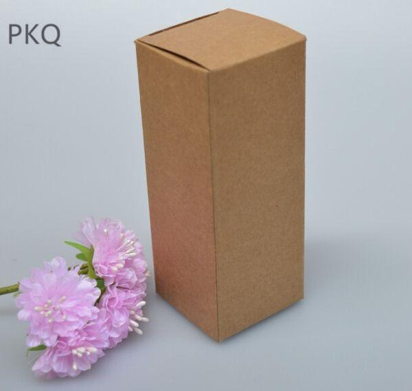 50 pçs / lote caixa de embalagem de óleo essencial de papel kraft caixa de embalagem de cosméticos caixas de cartão marrom caixas de presente do Perfume do Batom