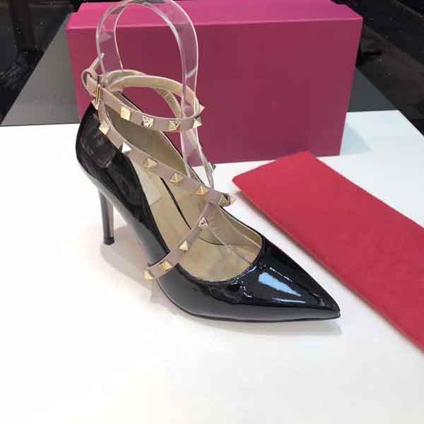 Alas de diseño Sandalias de mujer Desnudo plateado Rosa dorado Hoja de tiras Tacones altos Sandalias de gladiador Zapatos de mujer Bombas Zapatos de vestir con correa en el tobillo