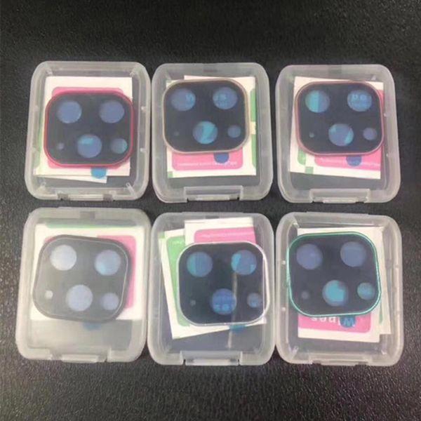 Vetro temperato secondi Cambia iPhone 11 Pro copriobiettivo della fotocamera Max per la copertura della macchina fotografica di iPhone X XS MAX lega di titanio Fondello