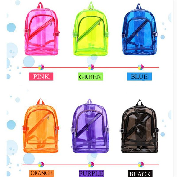 Backpacks Small Jelly Beach Bag Transparent Clear Plastic Waterproof Backpack for Teenage Girls PVC School Bags Shoulders Bag Free Shipda3b#