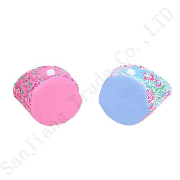 2019 Lilly Easter Barrels Baskets Printing Pattern Burlap Storage Shopping Bag Handbags Tote Easter Egg Candy Basket For Kids Gift A21903