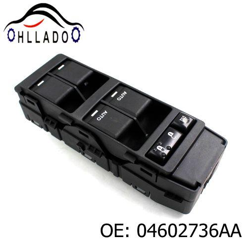 top popular HLLADO Auto Accessories Power Window Master Control Switch 04602736AA For C hrysler D odge J eep 2006-2014 4602736AA Car Window Switch 2021