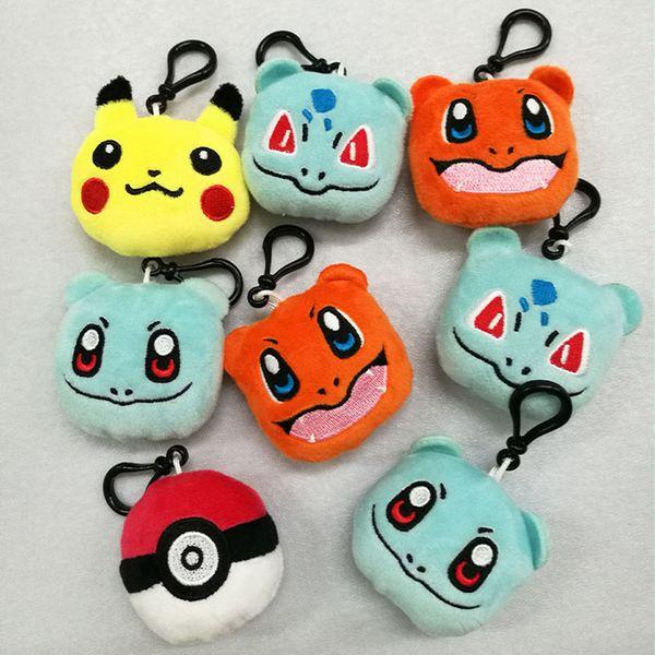 top popular Pikachu Plush Toys Key ring cartoon Stuffed Animals Keychain Creative bag pendant 9 styles C6587 2019