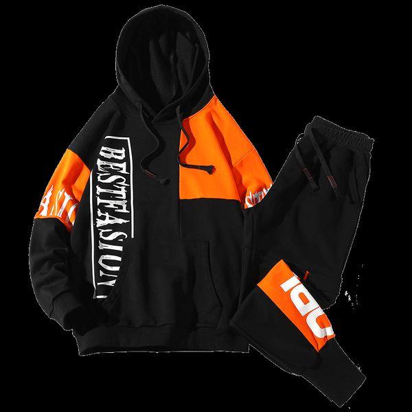 New 2019 popular logo cargo pants student coat a sport long sleeve hoodie suit for men