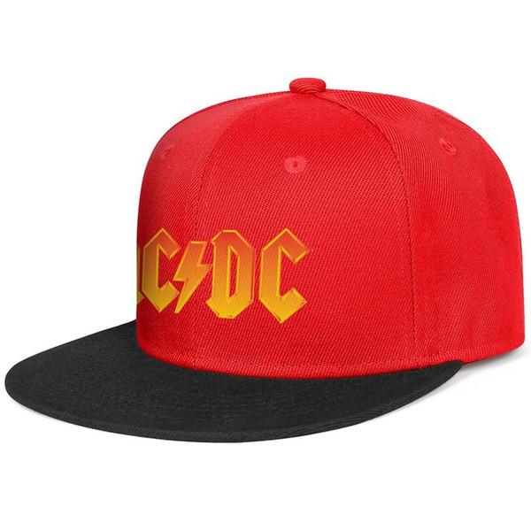 ACDC back in black rock band men's Flat-along baseball hat custom adjustable women basketball cap original Hip-hop cap mesh dance hats