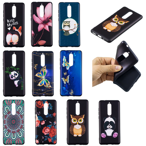 Soft TPU Back Phone Case For Nokia 1 2 3 5 6 8 Slim Fit Flower butterfly owl panda Case for Nokia 2.1 3.1 5.1 Cover