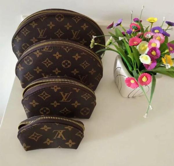 Femmes sacs cosmétiques organisateur célèbre sac Voyage sac de maquillage composent dames sac à main Cluch ORGANIZADOR sac de toilette 4pcs