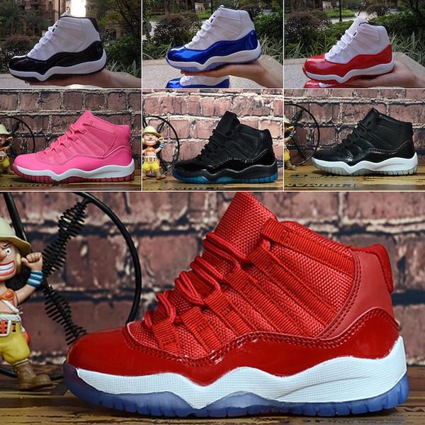 Nike Air Jordan 11 Venta de zapatillas de baloncesto Jumpman XI para mujer J11 Lana Midnight Navy Legend Blue Space Jam 45 11s zapatillas de deporte para jóvenes niños niños niñas