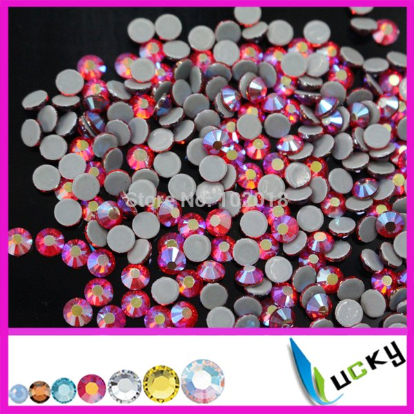-Free shipping A+ Quality hotfix rhinestone copy Swarov DMC!1440pcs ss16/4mm Red/Siam AB Heat strass crystal for iron on transfer